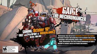 borderlands 2 dlc offer Borderlands 2 Gaige the Mechromancer DLC