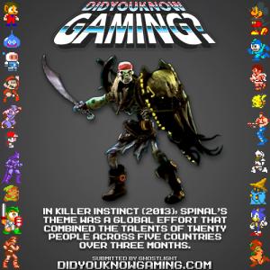 killer instinct fact 300x300 Random Game Facts Spinals Theme