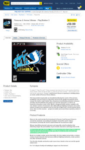 persona 4 arena ultimax best buy listing capture 171x300 Rumor Persona 4 Arena: Ultimax (360, ARC, & PS3) Are Ken & Rise Playable?