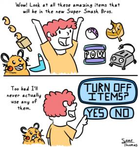 smash bros items 285x300 Morning LOL Cool New Smash Bros. Items? Nah, Turn Them Off!